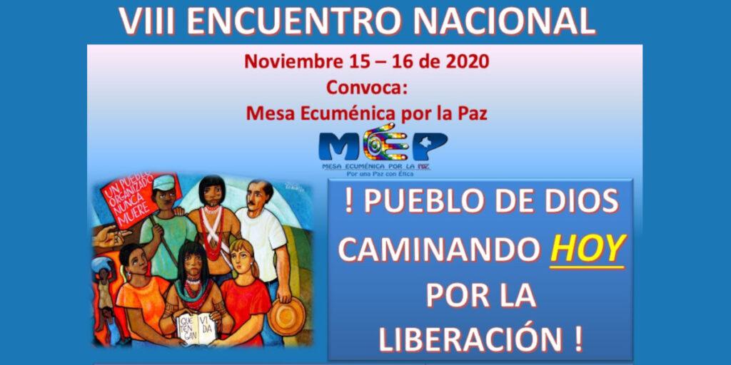 El Octavo encuentro nacional de la Mese Ecuménica por la Paz tendrá lugar los días 15 y 16 de noviembre de 2020 de manera virtual en la plataforma Zoom